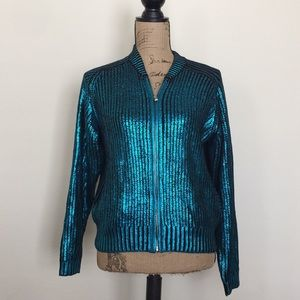 NEW Divided by HM electric green blue sweater